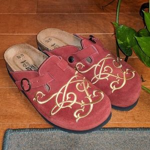 Naot Brick Red Suede Clog 37